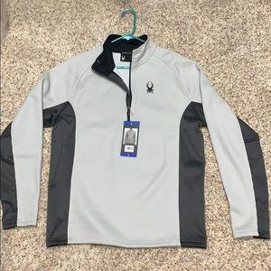 Spyder men's grey pullover size large